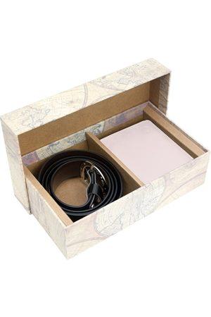 Blacksmith Men White & Black Solid Accessory Gift Set