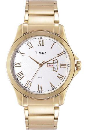 Timex Men White Textured Bracelet Style Straps Analogue Watch TW000X112