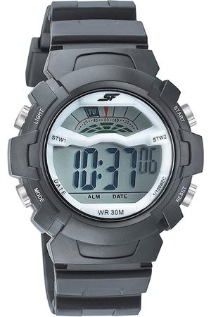 Sonata Men White & Black Digital Watch 77109PP01