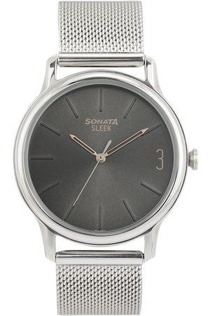 Sonata Men Grey Analogue Watch NN7128SM05