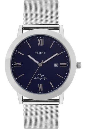 Timex Men Blue Dial & Silver Toned Bracelet Style Straps Analogue Watch TWEG17808