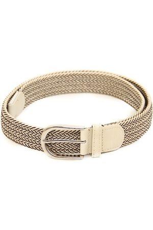 Calvadoss Men Beige Braided Stretchable Belt