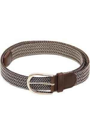Calvadoss Men Brown Braided Belt