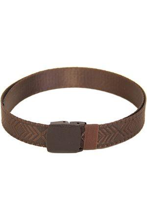 Calvadoss Men Brown Woven Design Belt