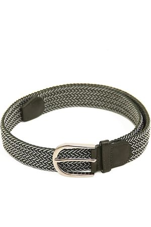Calvadoss Men Green Braided Stretchable Belt