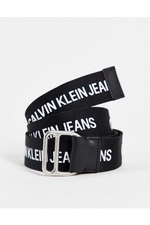 Calvin Klein Webbed belt with all over logo in