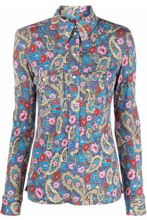 Isabel Marant Paisley-print point-collar shirt