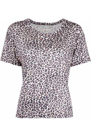 Zadig & Voltaire Leopard-print linen top