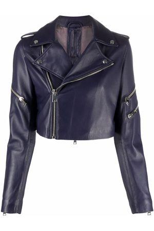 Manokhi Women Leather Jackets - Cropped leather jacket