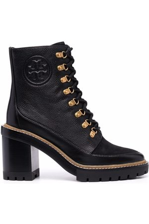 Tory Burch Lace-up heeled leather boots