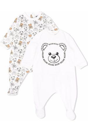 Moschino Pyjamas - Teddy bear-print cotton pajamas