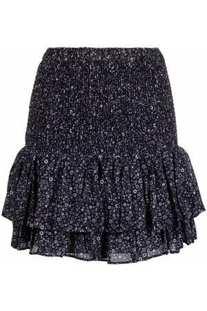Michael Kors Floral-print peplum mini skirt