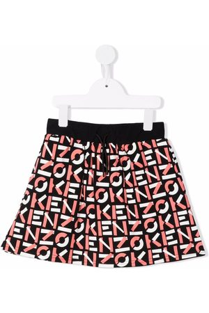 Kenzo Graphic-print flared skirt