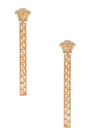 VERSACE Medusa Greca Dangle Earrings in Oro