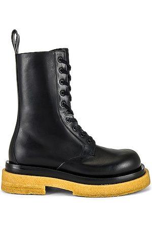 Bottega Veneta Military Calf Lace Up Boot in