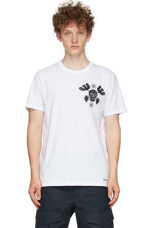 Alexander McQueen Embroidered Papercut Skull T-Shirt