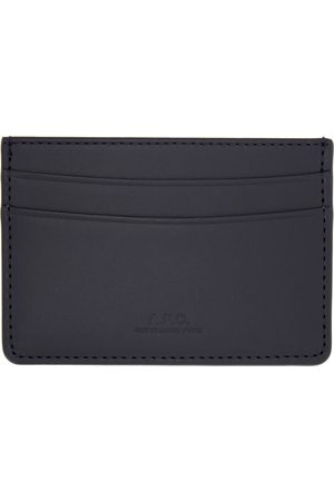 A.P.C. Navy André Card Holder