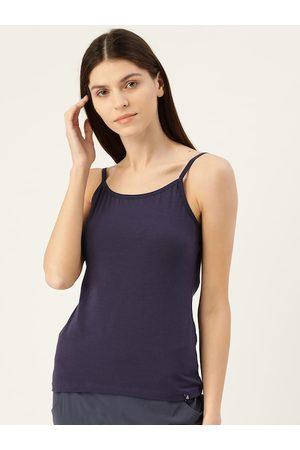 Jockey Women Navy Blue Solid Camisole