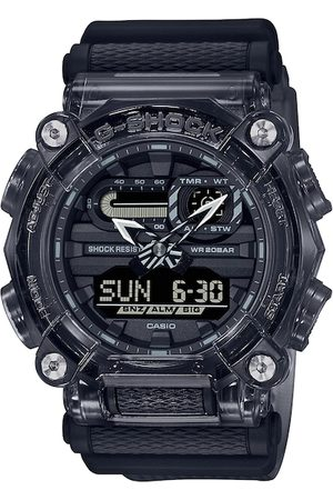 Casio Men Black Dial & Textured Straps Analogue and Digital Multi Function Watch G1101
