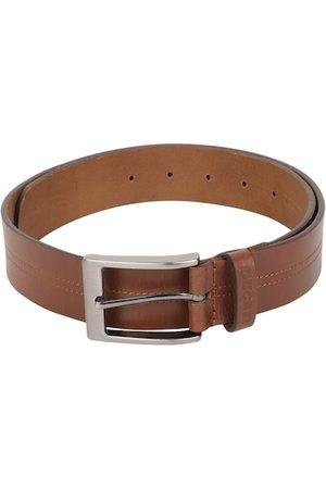 DUCATI Men Tan Solid Leather Belt