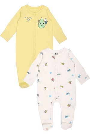 KICKS & CRAWL Infant Girls Pack Of 2 Printed Cotton Sleepsuits