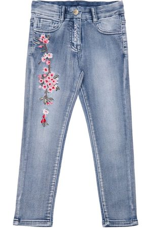 MONNALISA Embroidered Stretch Effect Pants