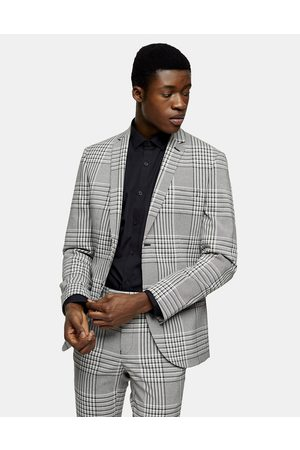 Topman Super skinny single breasted suit jacket in check