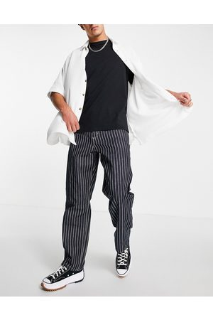 Carhartt Trade single knee pant relaxed straight fit in hickory stripe