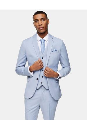 Topman Skinny single breasted suit jacket in light