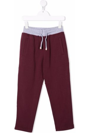 Brunello Cucinelli Contrasting waistband track pants