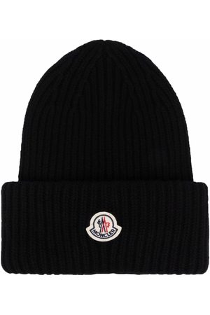 Moncler Men Beanies - Ribbed-knit beanie hat