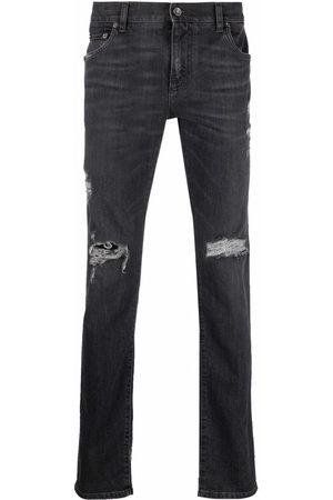 Dolce & Gabbana Distressed slim-cut jeans