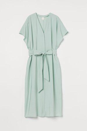 H&M Tie-belt kaftan - Turquoise
