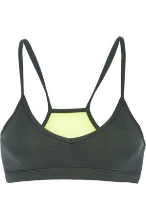GOOD AMERICAN Women Sports Bras - Heathered Forest Barely There Bra