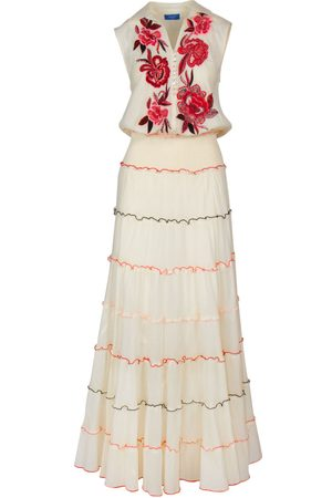Bleue Resort Women Printed Dresses - Floral Sleeveless Embroidered Dress