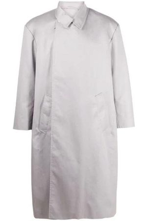 Balenciaga Light grey flap coat grey