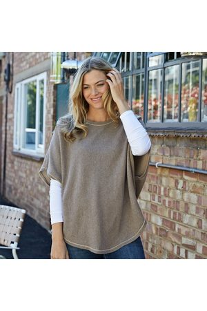 Cove Flora biscuit reversible poncho