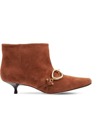 J.W.Anderson 40mm Embellished Suede Ankle Boots