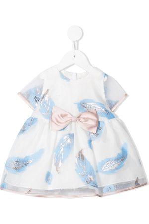 HUCKLEBONES LONDON Leaf-print Bodice dress