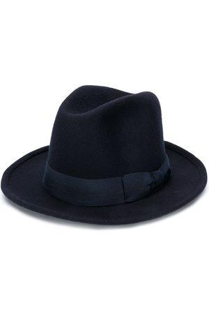 Ami AMI PARIS Ribbon Detail Wool Hat Navy