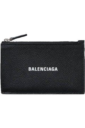 Balenciaga Logo Zipped Cardholder Black