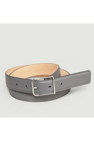 MAISON BOINET Men Belts - Leather Belt Granit