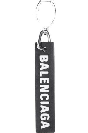 Balenciaga Men Earrings - Rubber Tag Earring /Silver