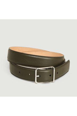 MAISON BOINET Men Belts - Full-Grain Calfskin Belt Khaki