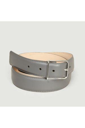 MAISON BOINET Men Belts - Leather Calfskin Belt Granit