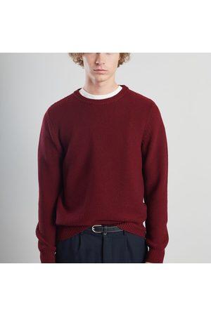 L'Exception Paris Merino Textured Knit Jumper Burgundy