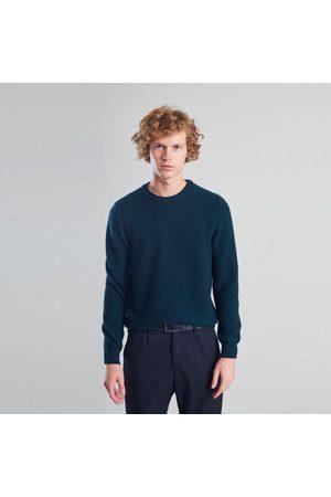 L'exception Paris Merino Textured Knit Jumper Dark