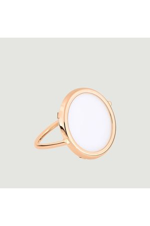 GINETTE NY Women Rings - Ever Disc ring Agate Blanche