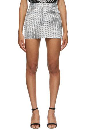 Givenchy & Denim Jacquard 4G Miniskirt