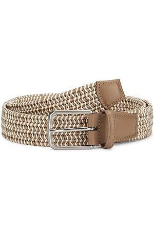 Saks Fifth Avenue Men Belts - Woven Rayon Belt